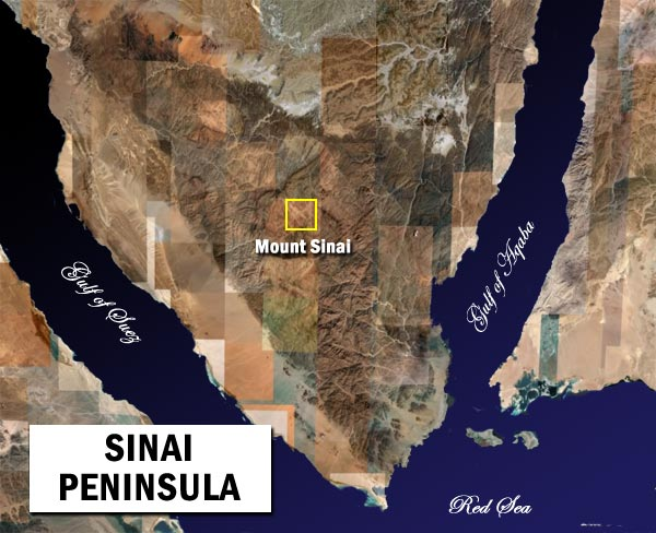 sinai peninsula satellite