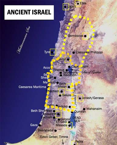 map of israel during Jeroboam II
